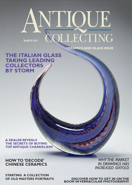 March 2017 cover of Antique Collecting