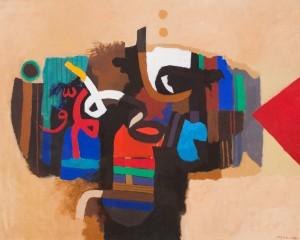 Painting by Iraqi artist Dia Azzawi