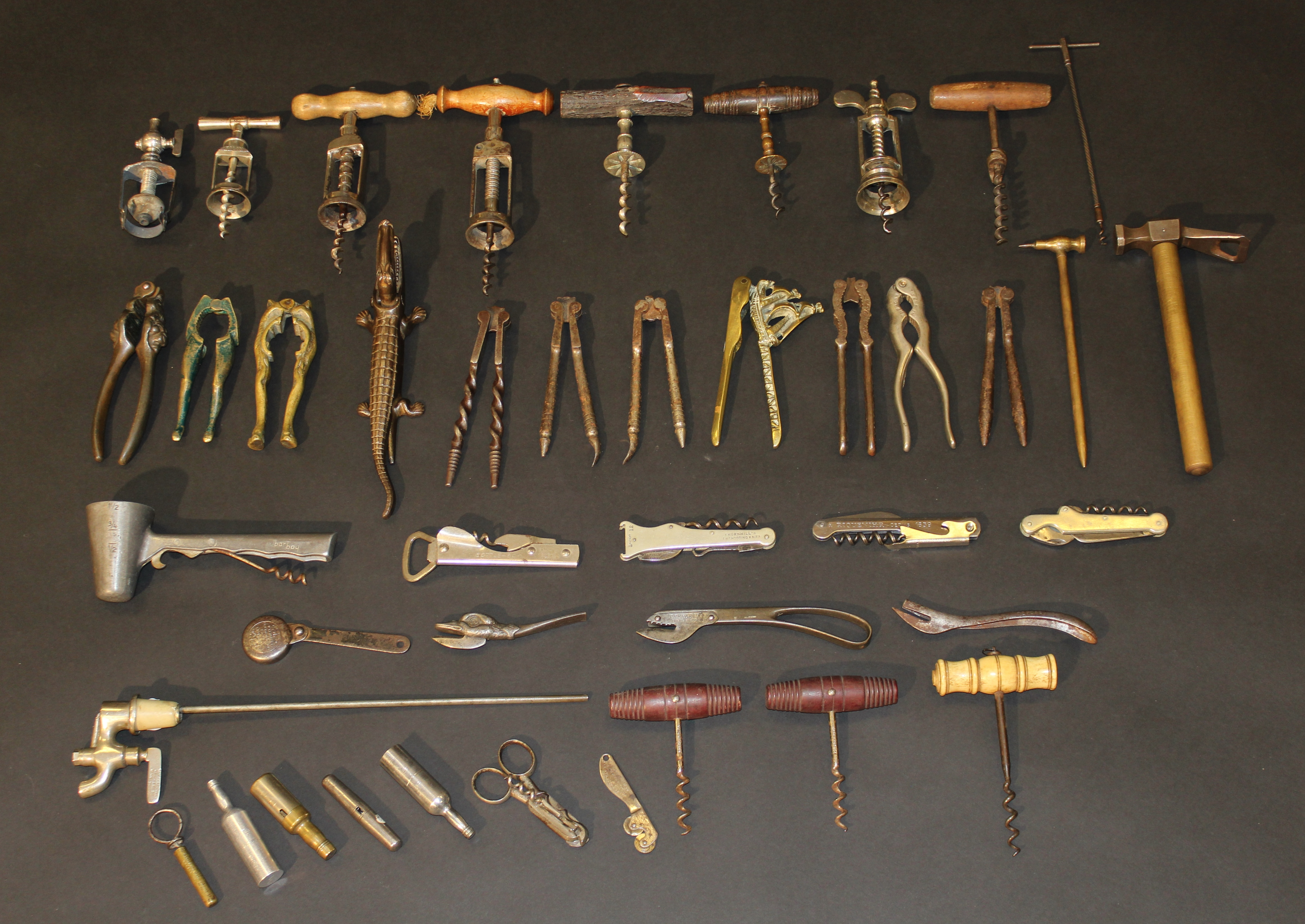 A lot of corkscrews due for sale in the Cotswolds