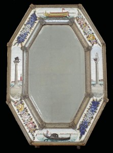 Antique Venetian glass mosaic mirror