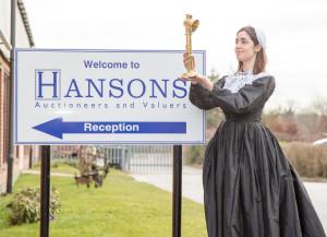 Florence Nightingale lamp outside Hansons