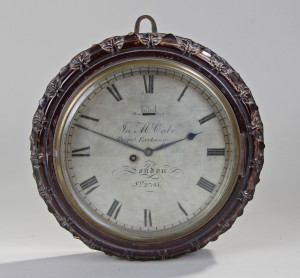 James McCabe 19th Century wall clock
