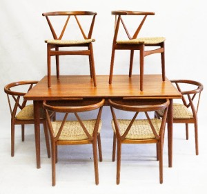 Danish teak dining table and chairs