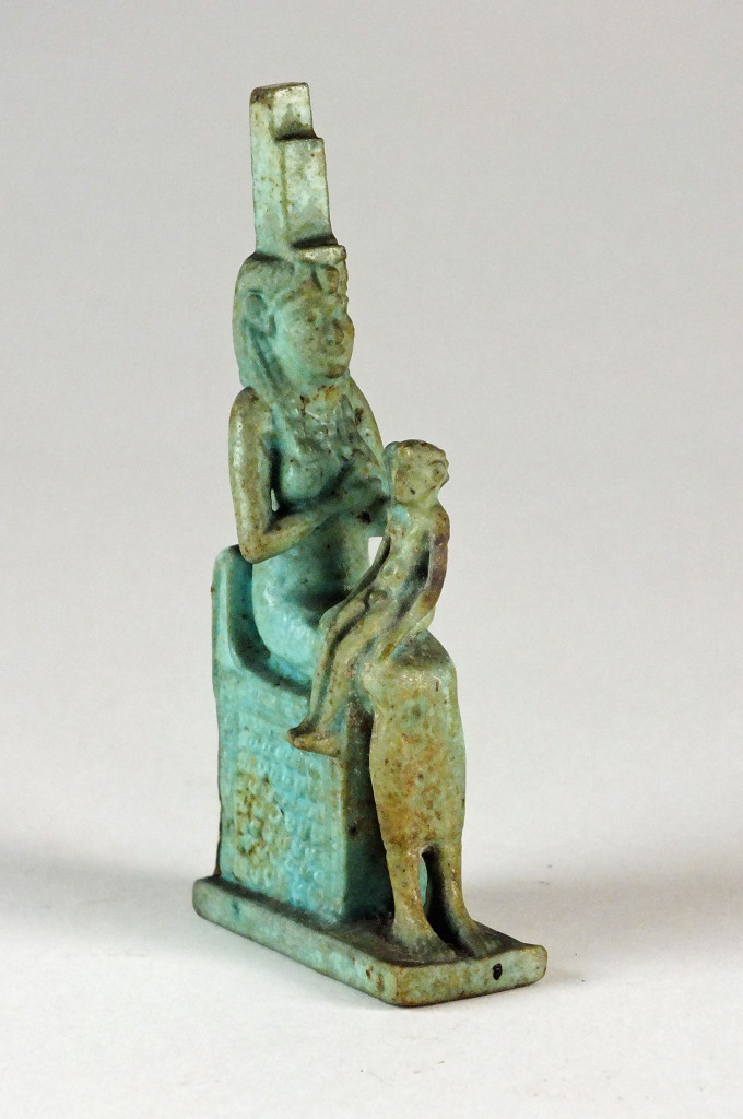A faience model of Isis and Horus