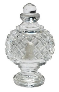 Baccarat crystal glass paperweight with a sulphide inclusion of Napoleon