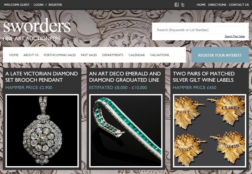 Sworders Fine Art Auctioneers updated website