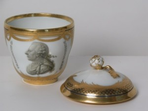Berlin porcelain teacup and saucer from burglary at Osterley Park House