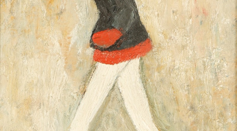 LS Lowry painting of a girl in a mini skirt