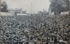 Halls postcard