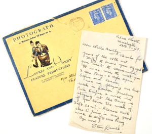 Letters written by Stan Laurel