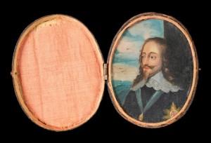 Charles I miniature portrait