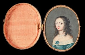 Miniature portrait of Henrietta Maria