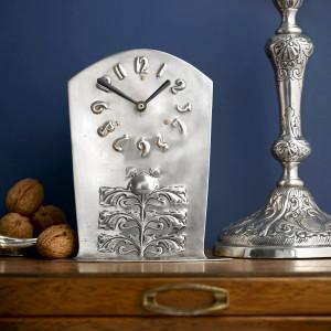 Liberty & Co' silver Cymric mantel clock