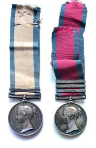 Two Peninsula war medal