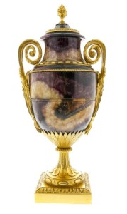 ormolu-mounted Blue John urn
