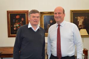 Christopher Ironmonger of Bigwood Fine Art Auctioneers and Jeremy Lamond of Halls Auctioneers