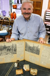 Hansons militaria expert, Adrian Stevenson with the Blitz collection