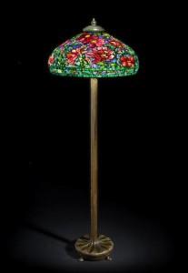 Tiffany Peony floor lamp