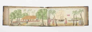 sketchbook of the voyage of the migrant ship, The Harpley