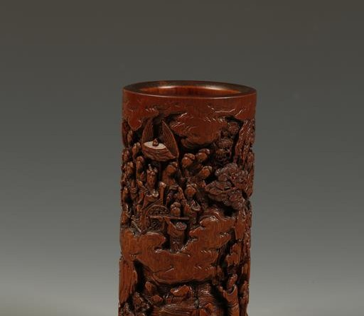 A Chinese brush pot