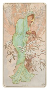 Alphonse Mucha's Winter