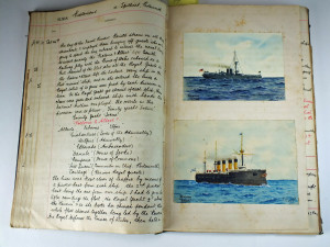 Journal of Midshipman H. S. Lecky with watercolour illustrations which sold for £500.