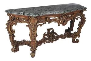 console table in 18th century Baroque taste
