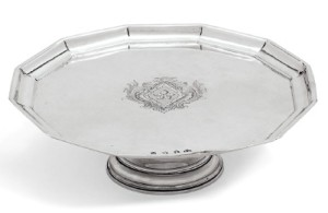 A George I silver tazza, mark of Thomas Mason, London, 1717