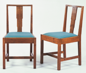 Oak dining chairs by Gordon Russell