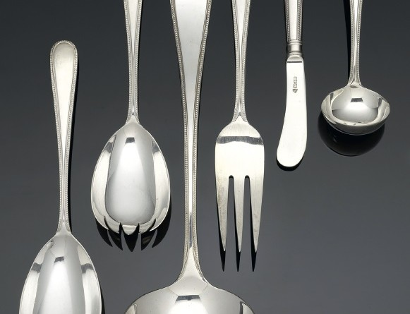 A collection of silver flatware and cutlery