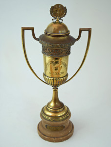 The trophy presented to Stoke United ladies football team