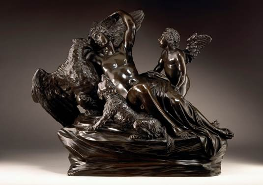 Massimiliano Soldani-Benzi (1656-1740), Ganymede and the Eagle, bronze