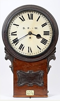 Victorian Great Western Railway station clock