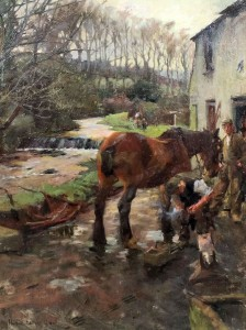 oil painting by Harold Harvey