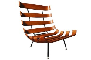 """""""Costela"""" chair by Martin Eisler and Carlo Hauner"""