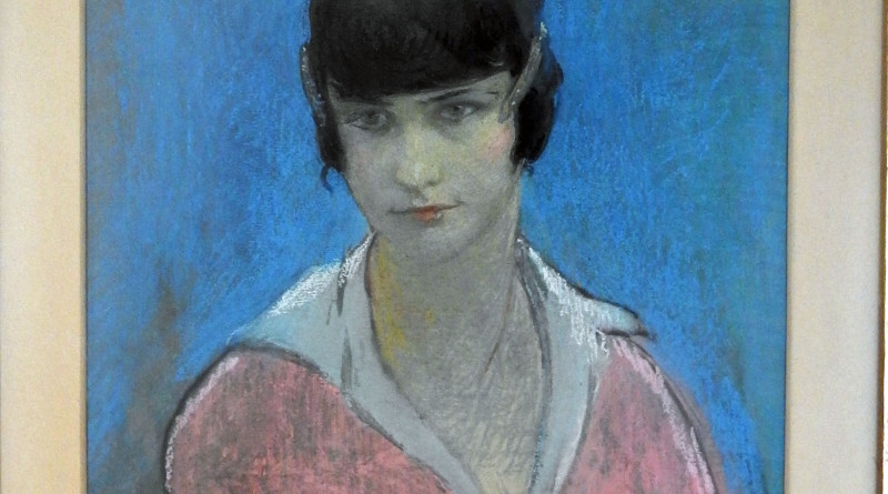 A pastel portrait of 'Nana' by Edgar Chahine (1874-1947) which sold for £1,800