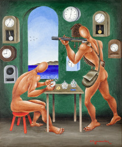 Nikos Engonopoulos (1910-1985), The hunter and the watchmaker