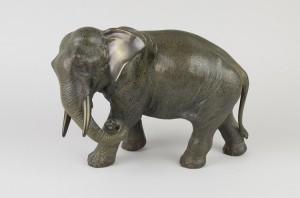 A bronze elephant