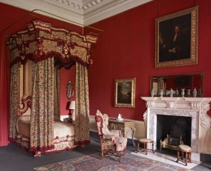 The bedroom pre-fire at Clandon