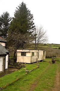 Caravan on remote farm near Newton Abbott in Devon