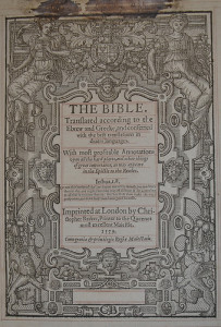 A 1579 Barker's Bible
