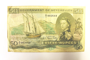 A Seychelles banknote