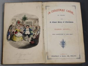 First edition copy of 'A Christmas Carol' by Charles Dickens, Lot 218