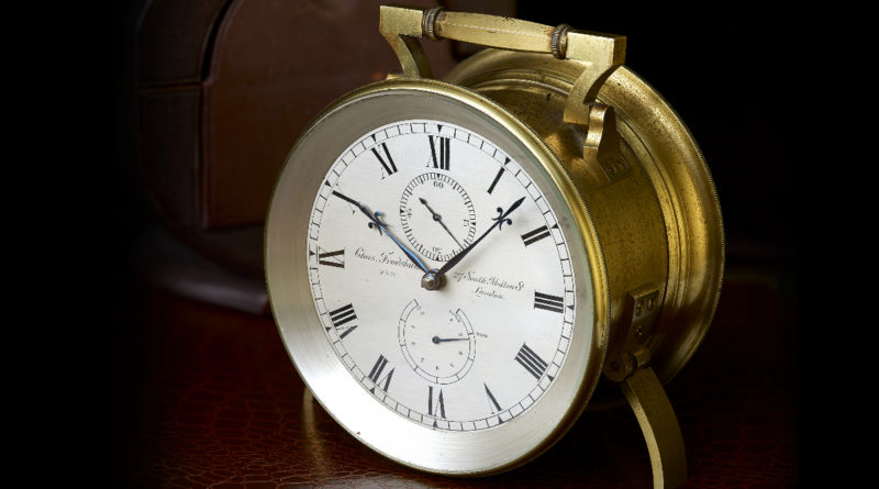 A rare 'Campaign' mantel timepiece by Charles Frodsham & Co Ltd.