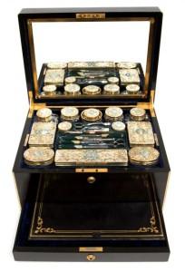 A coromandel wood dressing case