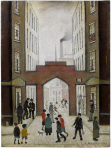 LS Lowry's Entrance to the Dwellings