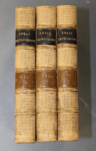 Rebound three volume set 'Great Expectations' by Charles Dickens, lot 215