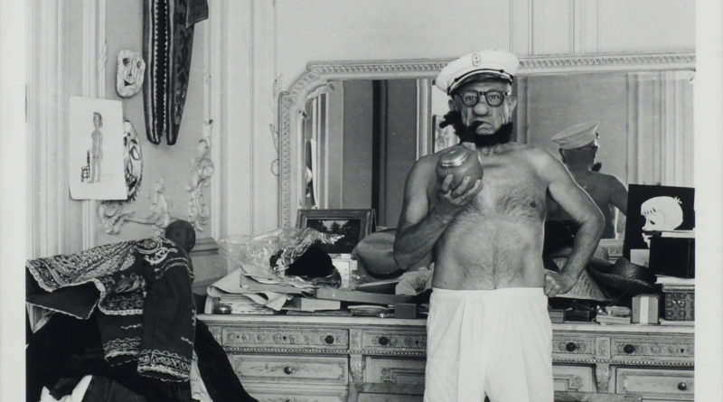 Andre Villers, French 1930-2016- ''Picasso poses as Popeye'