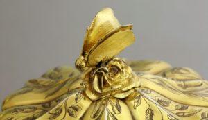 silver gilt tea set