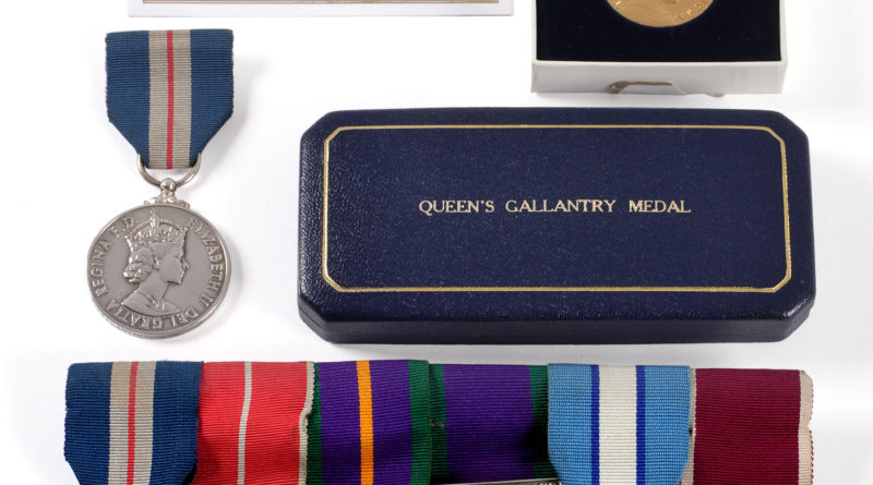 Northern Ireland Queen's gallantry group of seven medals